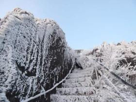 广东难得的雪景–清远金子山